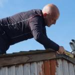 John on roof