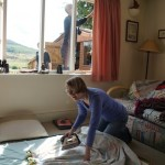 Jutta ironing curtains