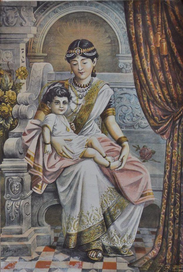 Mahaprajnapati with Prince Siddhartha
